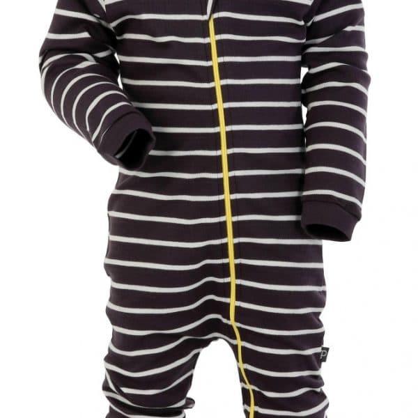 Romper stripes dark grey